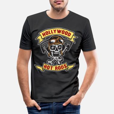 Hollywood HOLLYWOOD HOT ROS Horny Design V8 Tattoo Gift - Men's Slim Fit T-Shirt