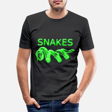 Crawl Snake Snake - Men's Slim Fit T-Shirt