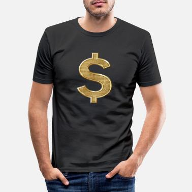 Dollar Dollar Dollar Sign Peso Money Money - Men's Slim Fit T-Shirt