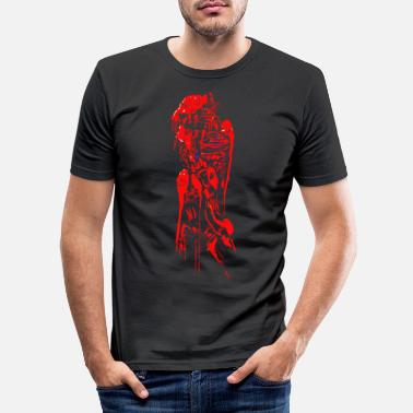 Sci-fi Alien Tribal - Sci-fi horror structure - Men's Slim Fit T-Shirt