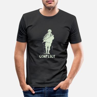 Conflict Conflict soldier - Men's Slim Fit T-Shirt