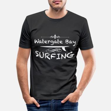 Meeting Surf spot Watergate Bay Newquay England UK Gift - Men's Slim Fit T-Shirt