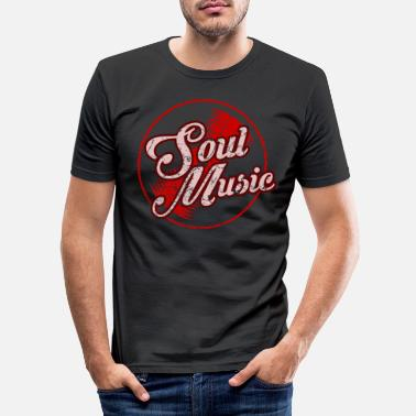 Black Music Soul Music Musiker Black Music Gift - Slim fit T-skjorte for menn