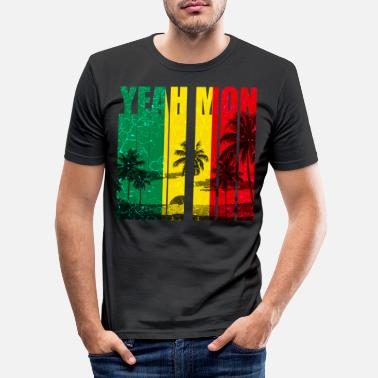 Rasta Jamaica Caribbean Vacation Jamaica Rasta Reagge - Men's Slim Fit T-Shirt