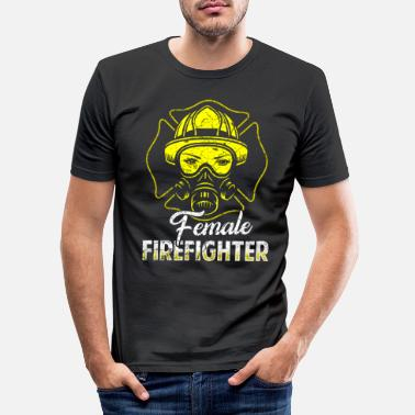 Fire Firefighter fire rescue heroine fire protection - Men's Slim Fit T-Shirt