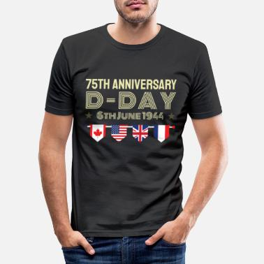 Canada 75 years D Day anniversary WWII World War II alliance - Men's Slim Fit T-Shirt