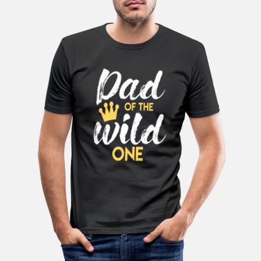 Wild Father of the Wild One Dad Father's Day Vader - Mannen slim fit T-shirt
