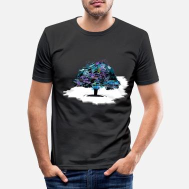 Expressiv The Expressive Tree - Männer Slim Fit T-Shirt
