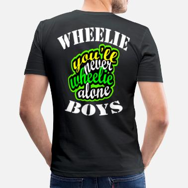 Wheelie Wheelie - Men's Slim Fit T-Shirt