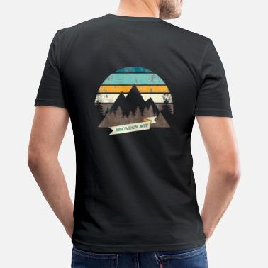 Mountain Boy Berge Männer Retro Partner Shirt Fun - Männer Slim Fit T-Shirt