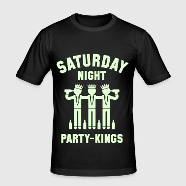 Saturday Night Party-Kings - Men's Slim Fit T-Shirt