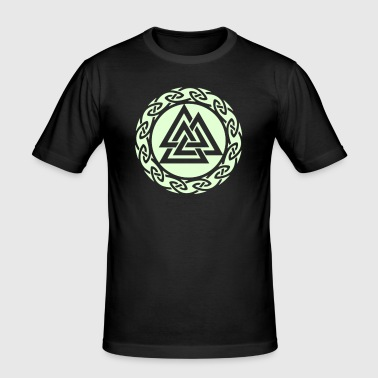 Valknut, Wotan Knot, Triforce Celtic Endless Knot - Men's Slim Fit T-Shirt