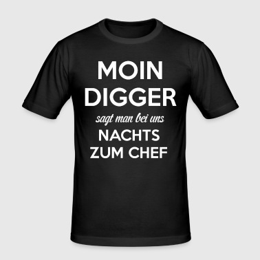 Hamburg Hamburger - Männer Slim Fit T-Shirt