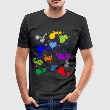 Colorful splashes of color - Men's Slim Fit T-Shirt