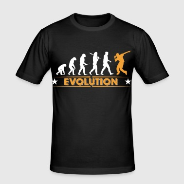 Hip hop break dance evolution - orange/blanc - T-shirt près du corps Homme