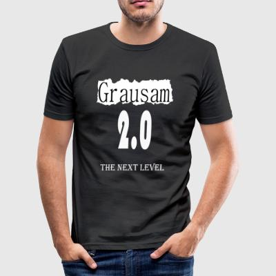 the next Level - Grausam 2.0 - Männer Slim Fit T-Shirt