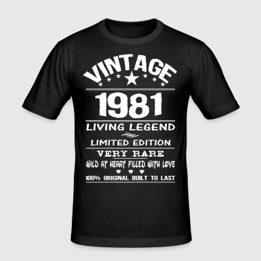 VINTAGE 1981-LIVING LEGEND - Men's Slim Fit T-Shirt