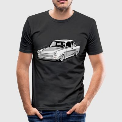 Two-stroke DDR Trabant 601 racing cardboard - Men's Slim Fit T-Shirt
