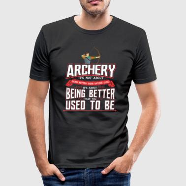 ARCHERY ARCHERY BOWHUNTER BOW GIFT - Men's Slim Fit T-Shirt