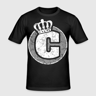 Stylish letter C with crown - Men's Slim Fit T-Shirt