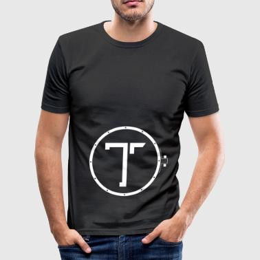 TK_Logo WHITE - Men's Slim Fit T-Shirt