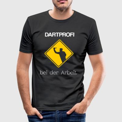 Dartprofi på jobbet. - Slim Fit T-shirt herr