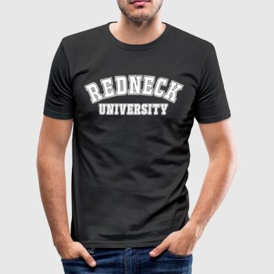 Shirt Redneck University, Motiv weiß - Männer Slim Fit T-Shirt