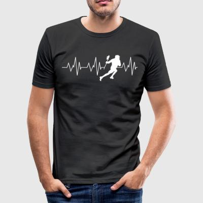 Heartbeat Lacrosse - slim fit T-shirt