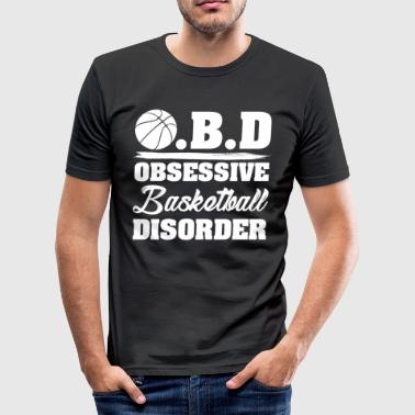 OBD obsessieve stoornis basketbal - slim fit T-shirt