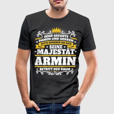 Zijne Majesteit Armin - slim fit T-shirt