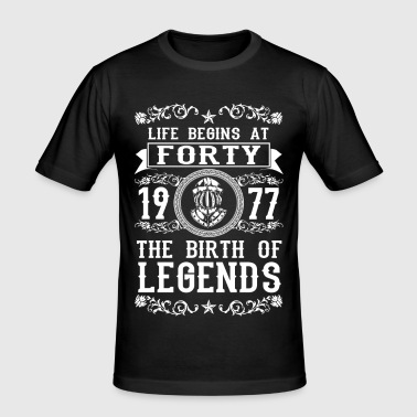 1977 - 40 years - Legends - 2017 - Herre Slim Fit T-Shirt