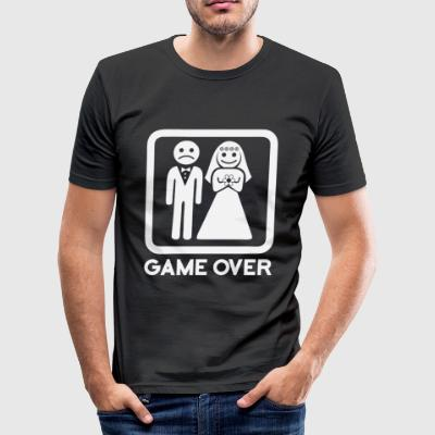 Game Over - Männer Slim Fit T-Shirt