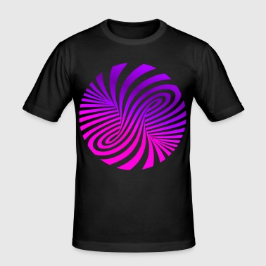 psychedelische illusie Disco 60s tornado - slim fit T-shirt