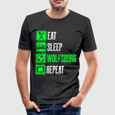 Repeat Wolfsburg - Men's Slim Fit T-Shirt