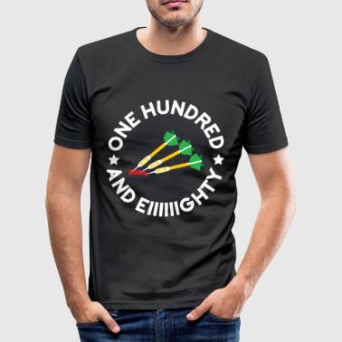 One hundred and eighty Dart - Männer Slim Fit T-Shirt