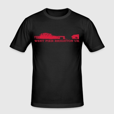 Brighton - West Pier - Men's Slim Fit T-Shirt