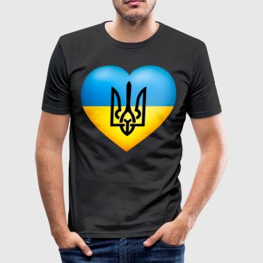 Україна / Ukraine flag - Men's Slim Fit T-Shirt