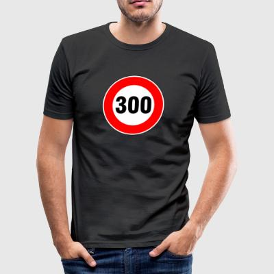 300 km / t - Slim Fit T-shirt herr