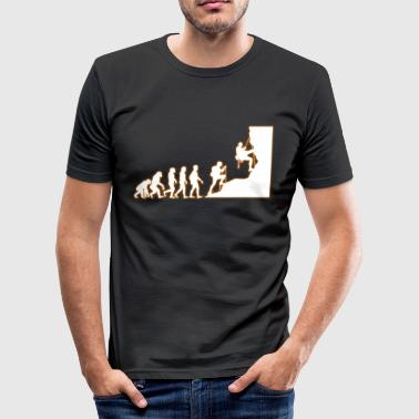 evolutie klimmen - slim fit T-shirt