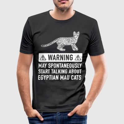 Funny Egyptian Mau Cat Gift Idea - Men's Slim Fit T-Shirt