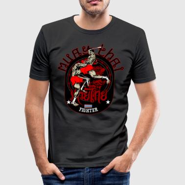 Muay Thai Fighter T-Shirt - Men's Slim Fit T-Shirt