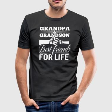Grandpa and Grandson - Best Friends For Life - Men's Slim Fit T-Shirt