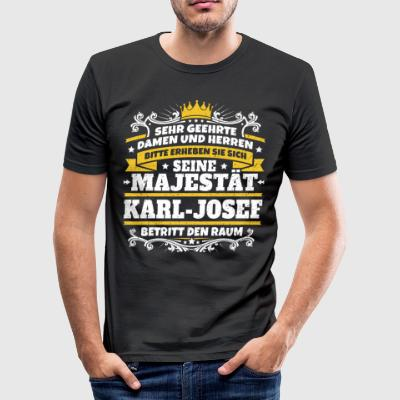 Hans Majestät Karl-Josef - Slim Fit T-shirt herr
