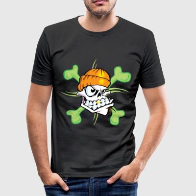 Groene Schedel T Shirts - slim fit T-shirt
