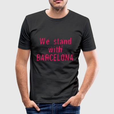 We staan ​​bij Barcelona - slim fit T-shirt
