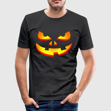 Græskar Face Halloween Horror græskar grimasse - Herre Slim Fit T-Shirt