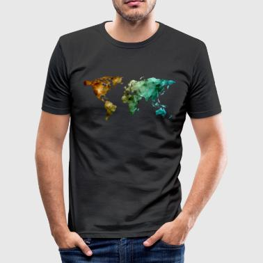 world map - Männer Slim Fit T-Shirt