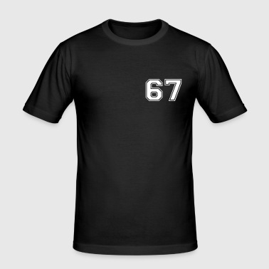 67 - Slim Fit T-skjorte for menn