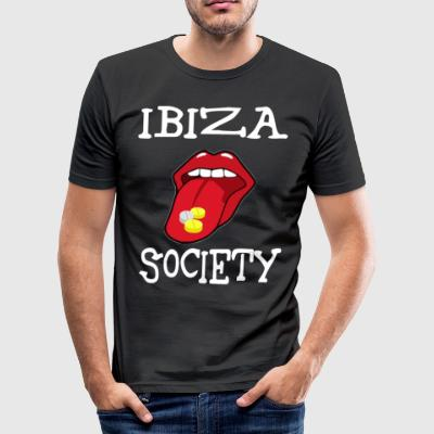 IBIZA SOCIETY - Slim Fit T-shirt herr