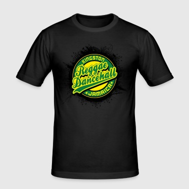 kingston reggae dancehall jamaica - T-shirt près du corps Homme